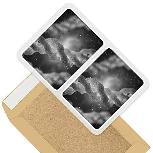 Impresionantes pegatinas rectangulares (juego de 2) 10 cm – Colágeno triple hélice ciencia molécula divertida calcomanías para portátiles, tabletas, equipaje, libros de chatarra, frigorífico, regalo genial #37231