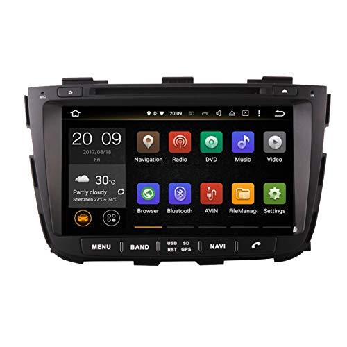 KCSAC 4G + 64G Android 9.0 Coche DVD para KIA Sorento 2013 2014 Radio de automóvil GPS Navegación con Control de Control de la cámara de Control de la cámara (Color : Android 9.0PX30 2 16)