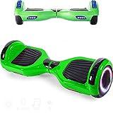 Magic Way Hoverboard - 6,5' - Bluetooth - Moteur 700 W - Vitesse 15 km/h - LED - Skateboard Électrique Auto-Équilibré - pour Enfants et Adultes - Vert