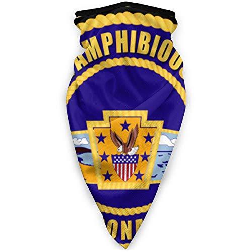 Not Applicable Magic Scarf,Naval Amphibious Base Coronado Neck Gaiter, Warmers Résistants Au Vent Décoratifs pour Les Sports De Plein Air,24x52cm