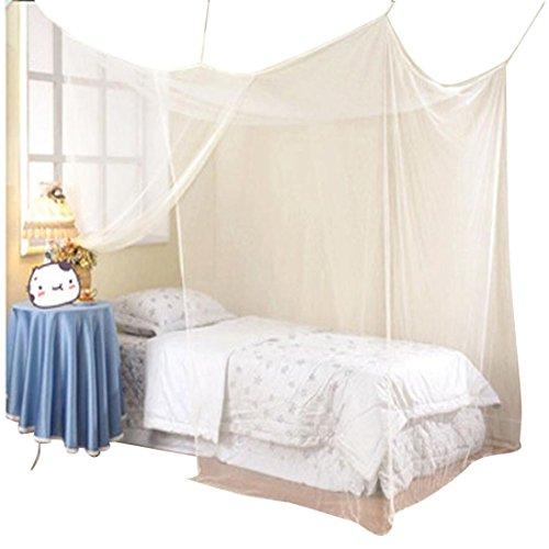 Zarupeng Vliegennet, muggennet voor tweepersoonsbedden kinderkamer, 180 cm x 200 cm, wit, voor bescherming tegen insecten, muggen, vliegen, malaria Eén maat wit