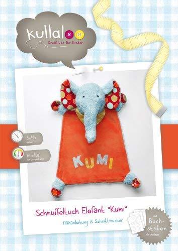 kullaloo - Schnittmuster & Nähanleitung für Schnuffeltuch Elefant