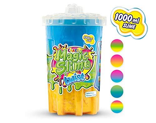 MAGIC SLIME TWIST juguete mágico moco arcilla para niños en barril 1000 ml color multicolor opción 16404 , color/modelo surtido