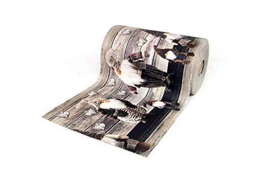 BIANCHERIAWEB Tappeto Passatoia Antiscivolo con Stampa Digitale Dis. Elfo Colore Marrone 50x230 Marrone