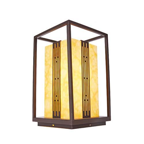 NXYJD Lámpara de Cabeza de Columna para Exteriores, lámpara Impermeable para Exteriores, lámpara de Patio Simple, lámpara de césped para jardín
