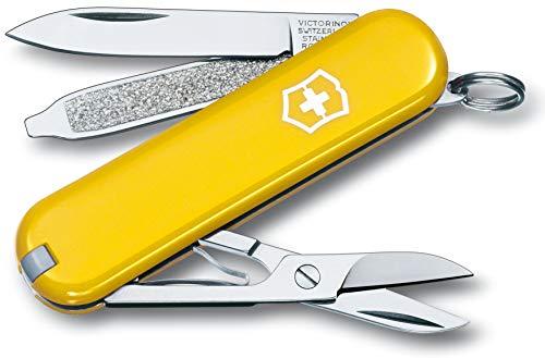 Victorinox Taschenmesser Classic SD, Klein (7 Funktionen, Klinge, Schere, Nagelfeile, Schraubendreher, Pinzette)