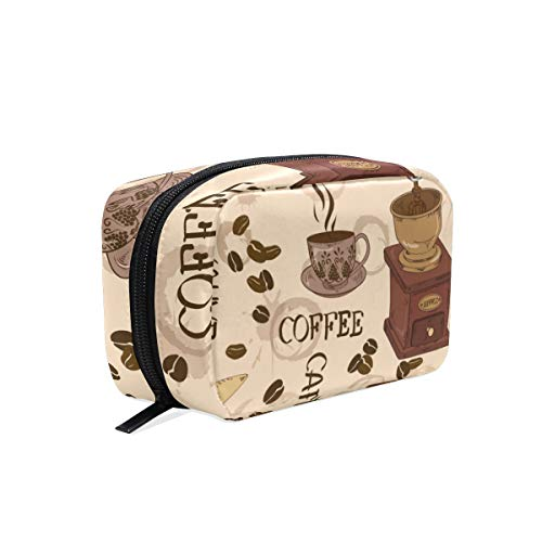 Make-up tas koffie patroon cosmetische zak koppeling