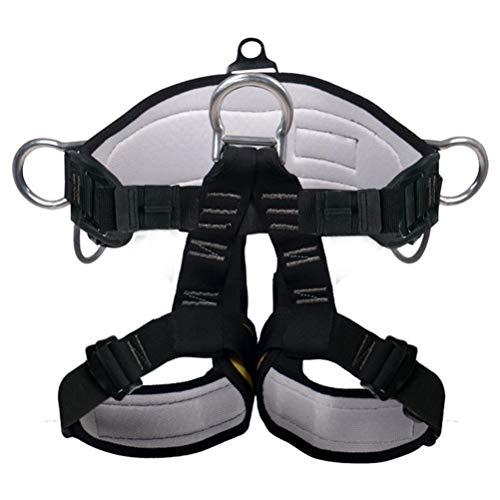 Bdesign Harnais d'escalade, Ceintures de sécurité Safe Professional Escalade Descente en Rappel Equip Protection des Jambes Taille Plus Large Harnais de sécurité Accrobranche, Incendie et de Secours