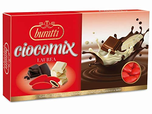Buratti Confetti Ciocomix Rosso - 1 kg