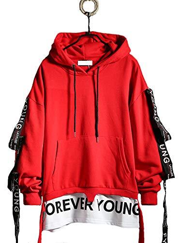 Hello MrLin Womens and Mens Hip Hop Hoodie Cotton Pullover Harajuku Streetwear Fashion Streamer Sweatshirt