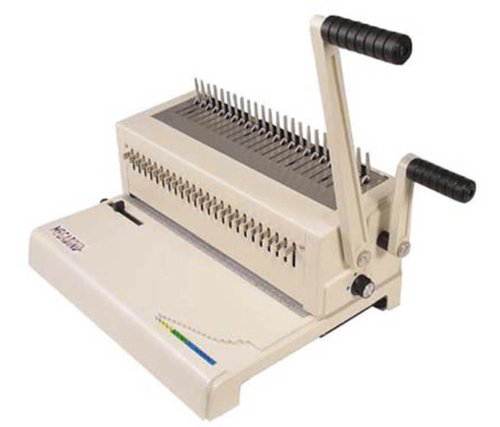 Akiles MegaBind2 Punching and Binding Equipment with Builtin Wire Closer Up to 25 Sheets Punching Capacity 9/16quot Pitch Manual Punch 14quot 24 dies Punching Length All 24 Disengaging Dies
