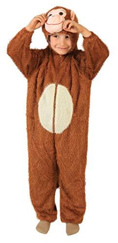 Foxxeo 10277 | Affenkostüm Kostüm AFFE für Kinder Gr. 110/116 - 152/158, Größe:134/140