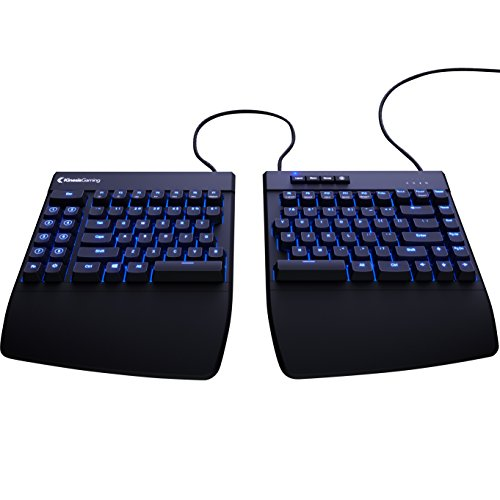 KINESIS Freestyle Edge Split Gaming Keyboard USB QWERTY Inglés Negro Teclado para móvil, Cherry MX Rojo, Negro, MX Red