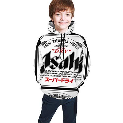 Hidend Kinder Kapuzenpullover Sweatshirt, Asahi Beer Fit Teen Hooded Sweater Black