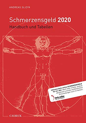 Schmerzensgeld 2020: Handbuch und Tabellen