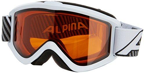 Alpina Unisex - Erwachsene Skibrille Smash 2.0 DH, Rahmenfarbe: White, Linsenfarbe: Dlh S2, One size, 7075111