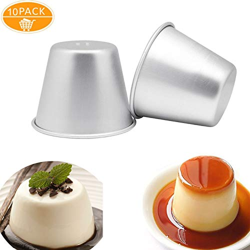 DoYoMo 10er Pack Puddingformen/geschmolzene Schokoladenpfannen/Western Cake Cup Form/Himbeersouffle Pot/Brownies Becher Popovers Brownies Mold