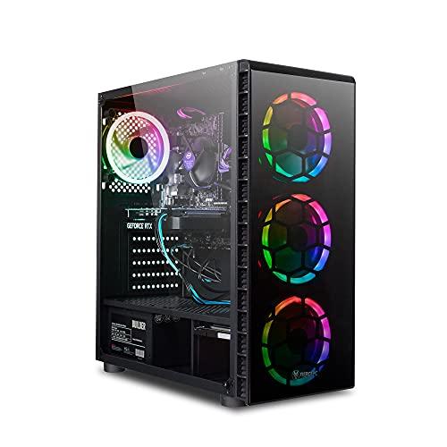 Fierce Crusader 1141850 - Computer da gioco ad alti FPS, Intel Core i5 9400F 4,1GHz, RTX 2060 6GB, 16GB 3000MHz, SSD da 240GB, disco rigido da 1TB, Windows 10 installato