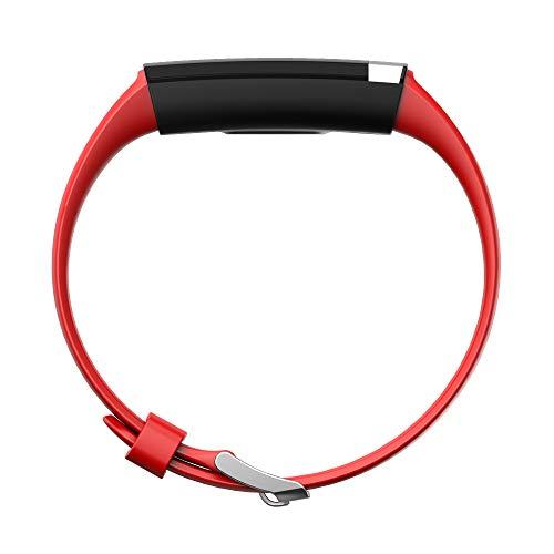 AUPALLA - Cinturino per Orologio ECG Activity Tracker, Versione da Polso, Rosso