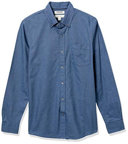 Goodthreads Slim-Fit Long-Sleeve Solid Oxford Shirt Hemd, indigo, Medium