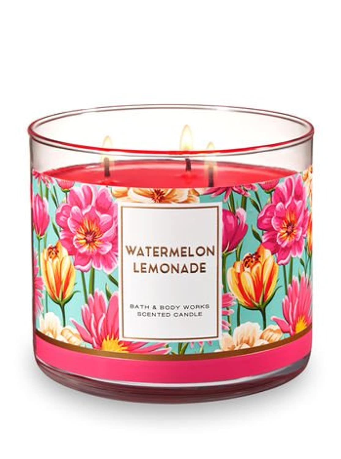 バースト優雅クスクスBath and Body Works 3?Wick Scented Candle Watermelon Lemonade 14.5オンス