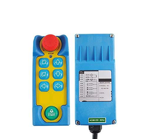 MXBAOHENG Grúa industrial de control remoto de grúa telecontrol F21-6S control inalámbrico para grúa con 1 transmisor y 1 receptor (24 V)