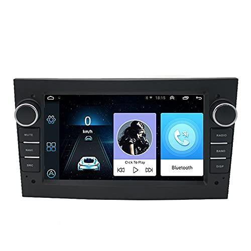 2 DIN 7 Pulgadas Android 9.1 (1G + 16G) Radio de Coche Bluetooth WiFi Navegación GPS Pantalla Táctil Reproductor Multimedia Estéreo de Coche 2.5D IPS Compatible para O/Pel