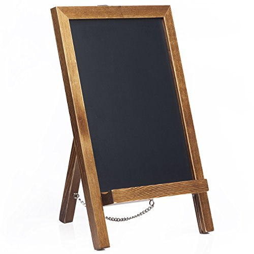 Cedar Markers 15'x10' Wood Framed Chalkboard. Mini Chalkboard Signs with Chain. Erase Slate Chalk Board Perfect for Chalk Markers and Vintage Wedding and Kitchen Decoration. (15'x10', Rustic Brown)