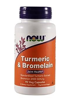 NOW Foods - Turmeric & Bromelain Joint Health - 90 Vegetarian Capsules