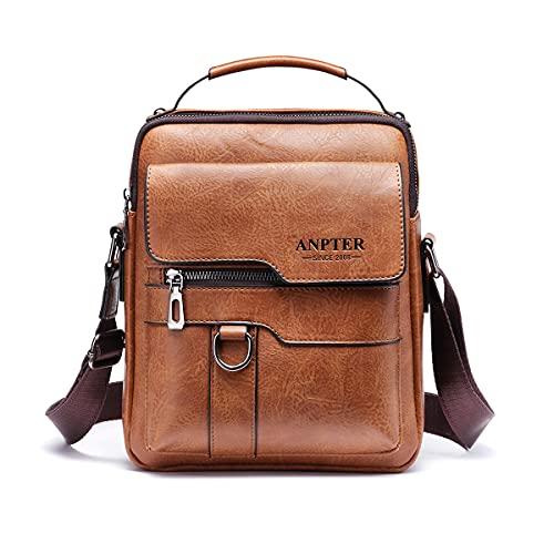 Herren-Umhängetasche, Vintage, Umhängetasche, Leder, kleine Shoulder, Crossbody-Bag, Business, Schulranzen, Handtasche, für Sport, Reisen, Arbeit