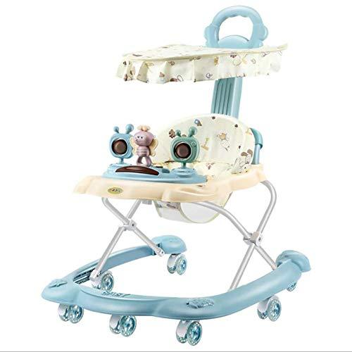 Baby Walker con Actividades y Juegos electrónicos Altura Ajustable y Asiento Giratorio Acolchado de 120 Grados Anti-Rollover TINGG