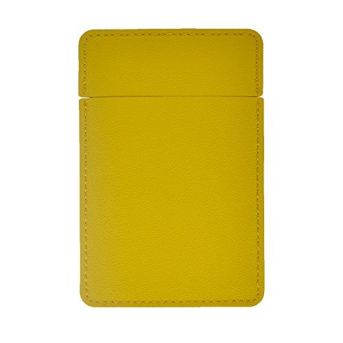 Dolovemk Miroir de poche incassable en acier inoxydable, miroir de maquillage avec étui en cuir PU, miroir de poche incassable, pour voyage, randonnée, casier (jaune)