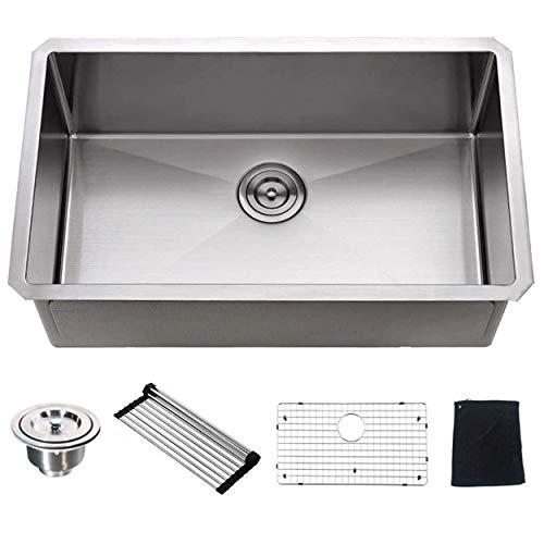 Ufaucet Commercial 32' x 19' x 10' Deep Single Bowl Undermount...