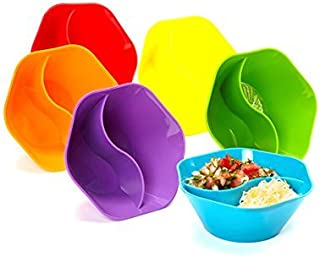 Double Dipper Bowl, Multi Colored, Set of 6