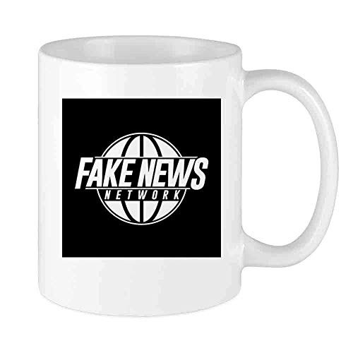 N\A Funny Coffee Mug Falsa News Network Custom Mug Único cerámica para Hombres y Mujeres Que aman Las Tazas de té y la Taza de café 12 oz