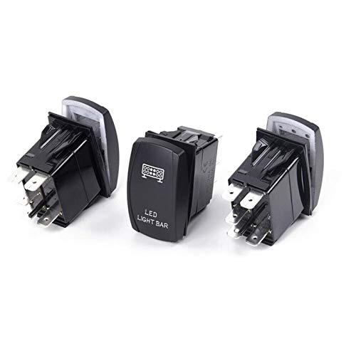 LICHONGUI 3pcs / Set Front & Trastro LED LED Barra de la Barra Rocker Interruptor para UTV Polaris RZR 900 1000 Ranger