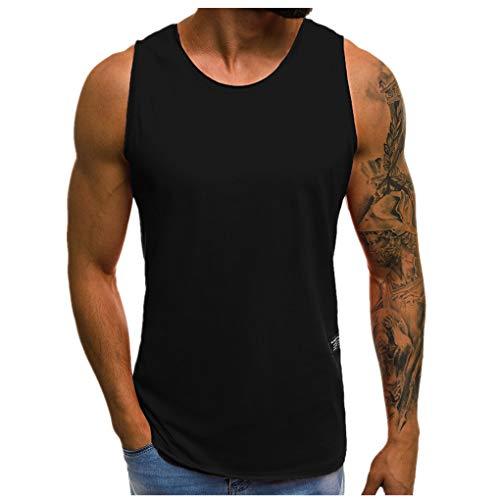 Dorical Tank Tops Herren Gym/Männer Premium Tank Top Herren - Calisthenics, Fitness und Bodybuilding Muscle Shirts für Herren - Gym Tank Top aus Hochwertigen Stoff Sale(Schwarz,Medium)