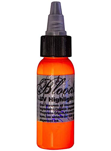 Bloodline UV Blacklight Colors Tattoo Ink - UV Orange - 1/2oz