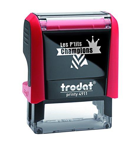 Tampon encreur enseignant Trodat Les P'tits Champions - Champion Excellent – Encre bleue - l'impression 38 x 14 mm