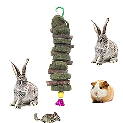 Apple Sticks Pet Chew Toys Natural Grass Cake Edible Molar Teeth Grinding Toy for Rabbits, Parrot, Gerbil, Squirrel, Chinchillas, Hamsters, Guinea Pigs from YJpet