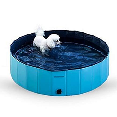 Nosii Faltbarer Hundepool Pool Bad Schwimmbecken Faltbad für Hunde Katzen Kinder (Color : Blau, Size : 30 * 10cm)