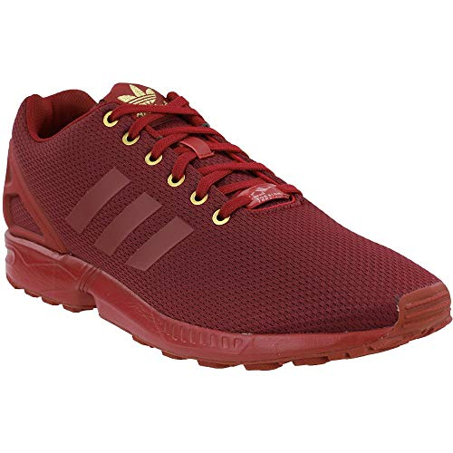 adidas Mens Zx Flux Lace Up Sneakers Shoes Casual - Red - Size 9 D