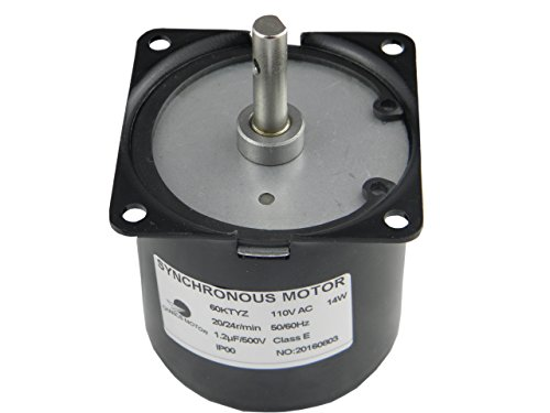 CHANCS 60KTYZ AC Synchronous Gear Motor 110V 20/24r/min CW CCW Control Electric Motor For Education Instruments