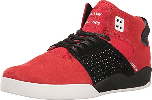 Supra Skytop, High-Top Unisex, Rot - Rot / Weiß. - Größe: Medium Large