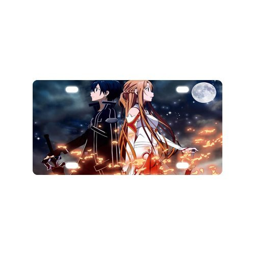 Japanese Anime Sword Art Online Personalized Novelty Front Metal License Plate Car Tag