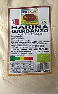 Bioprasad - Harina Garbanzos Bio 500 Gramos - Sin Gluten Sin Lactosa - Procedente De Agricultura Ecológica