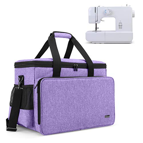 Read About Yarwo Sewing Machine Carrying Case with Bottom Wooden Board, Universal Sewing Machine Tot...