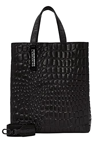 Liebeskind Berlin Paper Bag Tote Kroko, black, Medium (HxBxT 34.0cm x29.0cm x15.0cm)