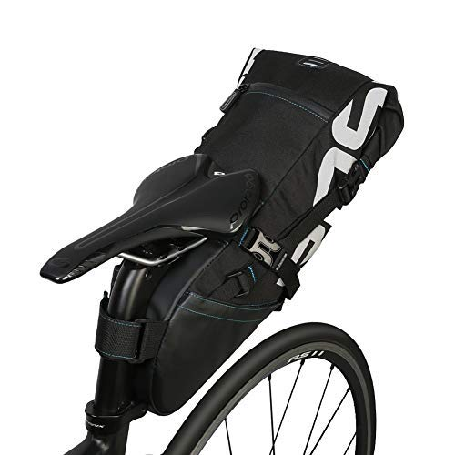 Atyhao 10L Satteltasche für Fahrrad Bike Saddle Bag Tear Resistant Polyester Bike Seat Rear Bags Strap On Saddle Bag Polyester Reißfest für Rücksitz Radsport