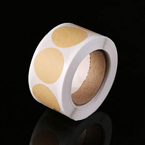 1 roll (500pcs) Vintage Blank Kraft Paper Label Circle Handmade Sealing Sticker For Gift Packaging Tags DIY